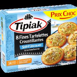Tartelettes fines St Jacques surgelés TIPIAK, x8 soit 224g