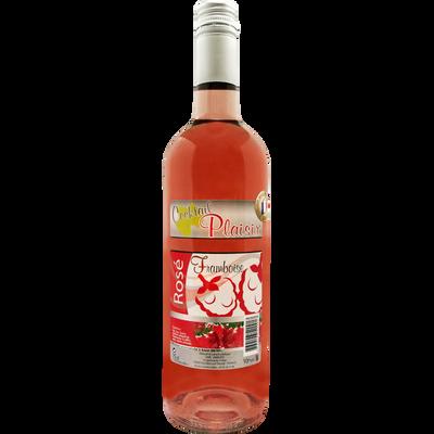 Boisson aromatisée au vin rosé framboise COCKTAIL PLAISIR, 10°, bouteille de 75cl
