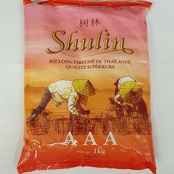 Riz long parfumé de Thaïlande, SHULIN, le sachet de 1kg