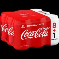 COCA COLA REG.BTE 8X33CL+1 OFF