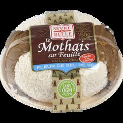 Le mothais sur feuille au lait cru de chèvre SEVRE & BELLE, 23% de MG,150g