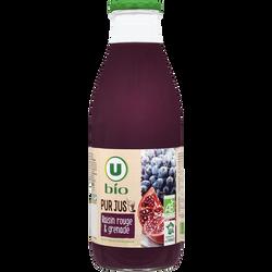 Pur jus raisin rouge/grenade, U BIO, 1l