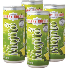 Cocktail mojito CHERRY ROCHER, 12,5°, pack de 4x25cl