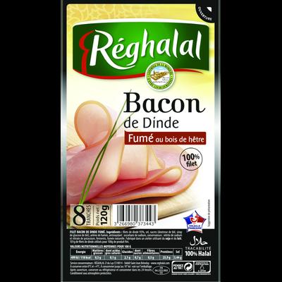 Bacon de dinde 8 tranches HALAL Réghalal, 120g