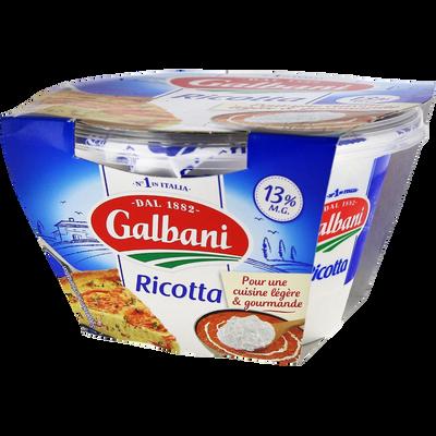 Fromage au lait pasteurisé Ricotta, 13%MG, GALBANI, 250g