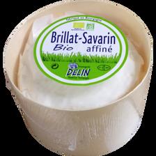 Brillat savarin affiné au lait pasteurisé bio 40% de MG, boite bois de200g