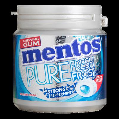 Chewing-gum sans sucre pure fresh frost strong peppermint sans sucresMENTOS, boîte de 50 dragées, 100g