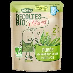 Purée de haricots verts, petits pois Les Recoltes Bio dès 6 mois, 120g