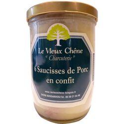 *SAUCISSES DE PORC CONFITES BCL Vieux Chêne