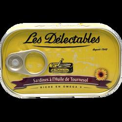 Sardines huile de tournesol LES DETECTABLES, 125g
