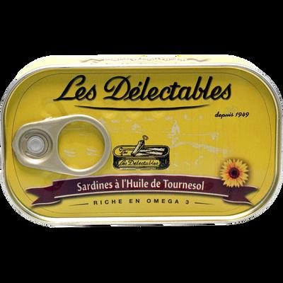 Sardines huile de tournesol LES DETECTABLES, boîtes de 125g
