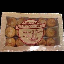 Bouchées de 15 galettes sablées amandine, 225g