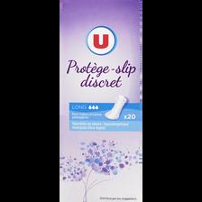 Protège-slip incontinence long U, x20