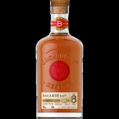 Rhum réserva vieilli BACARDI, 40°, bouteille de 70cl
