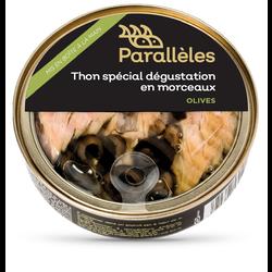 Thon spécial dégustation en morceaux olives PARALLELES, 160g