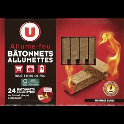 Allume-feu bâtonnet allumette pour tous type de feu U, x24