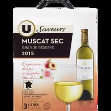 Vin blanc sec IGP pays d'OC Muscat U SAVEURS, fontaine à vin de 3l