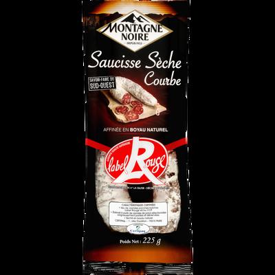 Saucisse courbe sèche pli Label Rouge MONTAGNE NOIRE, 225g