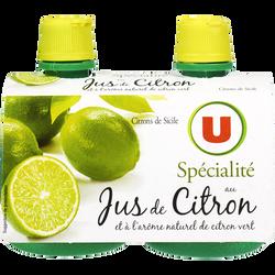 Jus de citron vert U, 2x12, 5cl
