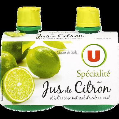 Jus de citron vert U, 2x12,5cl