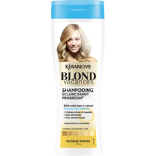 Shampoing éclaircissant progressif blond vacances KERANOVE, flacon de250ml