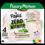 Fleury Michon Jambon De Paris Zéro Nitrite Fleury Michon, 4 Tranches Fines Soit 120g