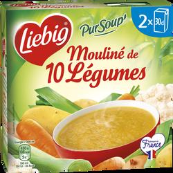 Pursoup mouliné 10 légumes variés LIEBIG, 2 briques de 30cl