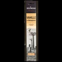 Batonnets d'encens DEVINEAU, parfumés vanille de madagascar, vanille,20 unités