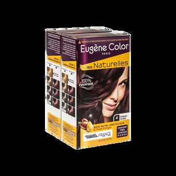 Eugène Color Coloration Permanente Châtain Acajou N°4 Eugène Color, X2