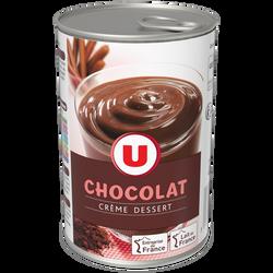 Crème dessert au chocolat U, 400g