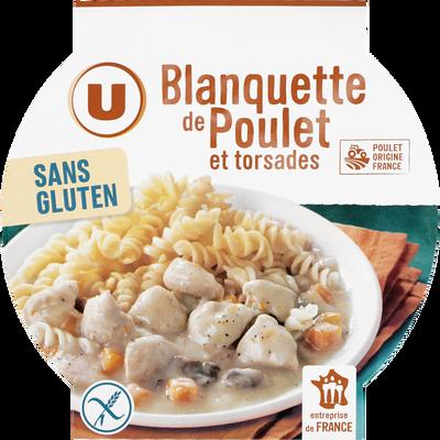 Blanquette de poulet et pâtes sans gluten U, 280g