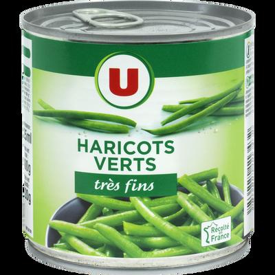 Haricots verts très fins U, boîte 1/2