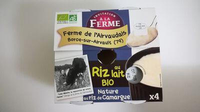 Riz au lait Nature - 4X125g - La ferme de l'Airvaudais
