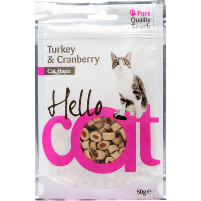 Snacks dinde/cranberry, HELLOCAT, 50g