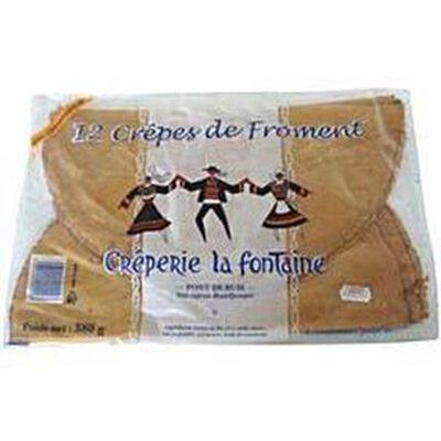 12 crêpes froment 380gr LA FONTAINE