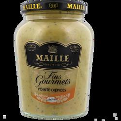 Moutarde fins gourmets et pointe d'épices MAILLE, bocal de 340g