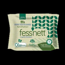 Fess'nett Papier Toilette Humidifié Natura, 50 lingettes