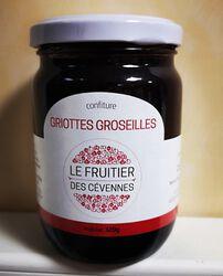 Confiture de griottes et groseilles LE FRUITIER DES CEVENNES, 320g
