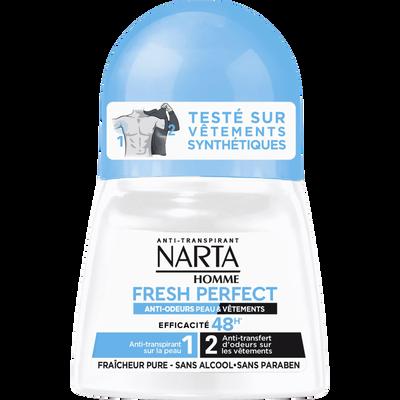 Déodorant homme fresh perfect, NARTA, bille, 50ml