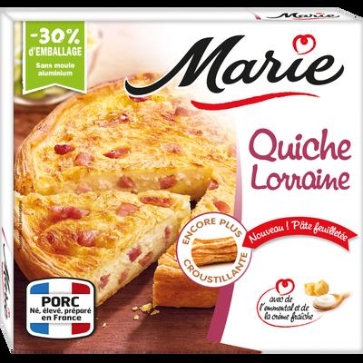 Quiche Lorraine aux lardons crème fraîche légère emmental MARIE, 400g