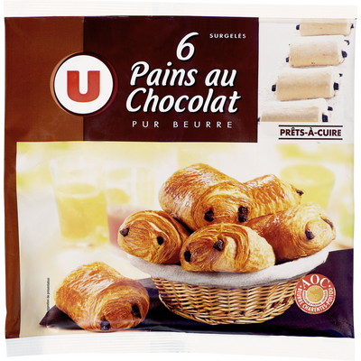 Pain au chocolat pur beurre U, 6x70g