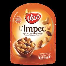 L'impec noix de cajou, cacahuètes, raisins, noisettes, amandes VICO, 100g