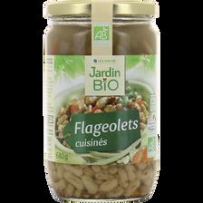 Flageolets cuisinés JARDIN BIO, conserve en verre de 680g