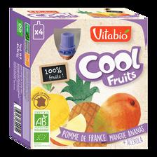 Cool fruits pomme mangue ananas acérola VITABIO, 4x90g