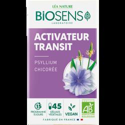 Gélules végétales activateur transit bio BIOSENS x45