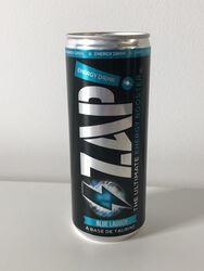 25CL ZAP ENERGY DRINK BLUE LAGOON à base de baies sauvage, caféine, taurine