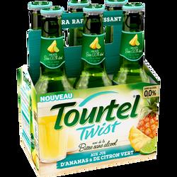 Bière sans alcool twist citron vert ananas TOURTEL 0° 6x27,5cl