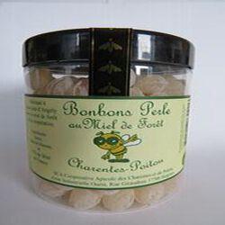 Bonbons perle au miel de forêt, Charentes-Poitou, 200gr, pot, Coopérative apicole des Charentes et du Poitou