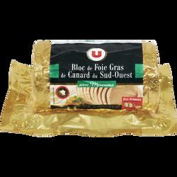 Bloc foie gras 30% IGP Sud Ouest U, 12 tranches soit 480g