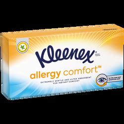 Mouchoirs allergy comfort KLEENEX , boîte de 56 unités